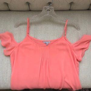 Pinky Orange Off Shoulder Blouse